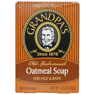 Grandpa's Old Fashioned Oatmeal Bar Soap for Face and Bath by Grandpa's for Unisex - 3.25 oz Soap