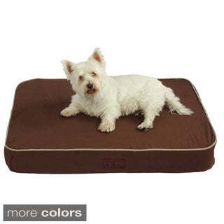 Washable 38-inch Orthopedic 3D Memory Foam Medium Rectangle Lounger Pet Dog Bed