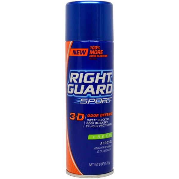 Right Guard Sport 3-D Odor Defense Fresh 6-ounce Deodorant Spray
