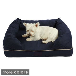 Washable 38-inch Orthopedic 3D Memory Foam Medium Couch Pet Dog Bed with Bolster