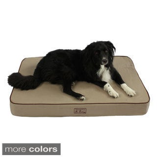 Washable 46-inch Orthopedic 3D Memory Foam Large Rectangle Lounger Pet Dog Bed
