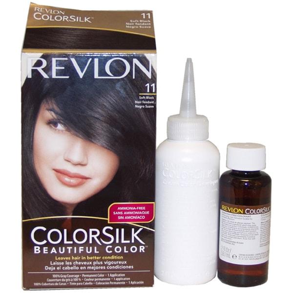 Revlon ColorSilk Beautiful Color #11 Soft Black Hair Color (1 Application)