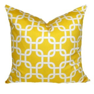 Chain Link Corn Yellow 18x18-inch Pillow Cover