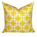 Chain Link Corn Yellow Geometric Throw Pillow Cover