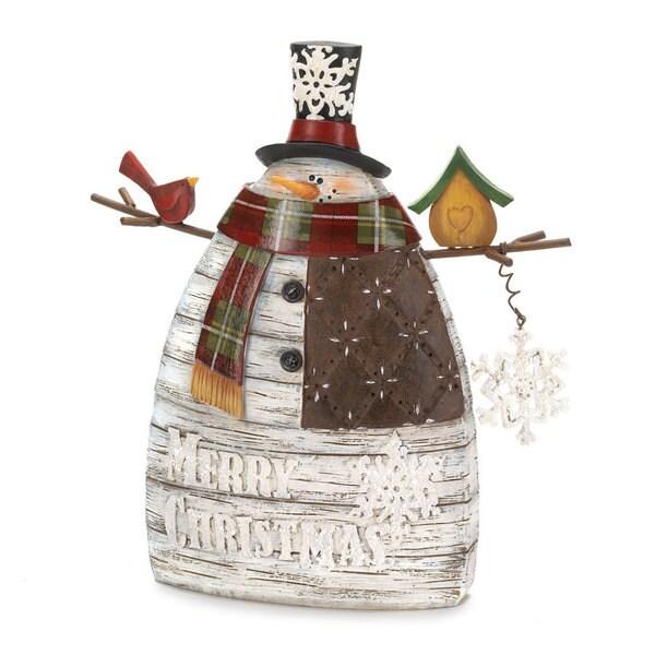 'Merry Christmas' Snowman Decor