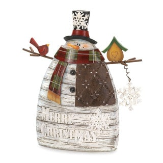 'Merry Christmas' Snowman Decor