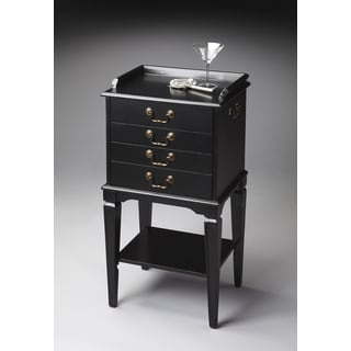 Black Four-drawer Silver Chest