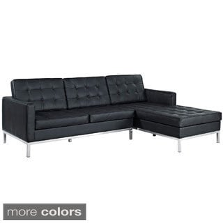 Tufted Back Left-arm Corner Sectional Sofa
