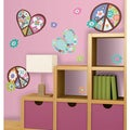 Heart, Flower and Peace Sign Peel and Stick Giant Wall Decal