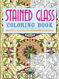 Stained Glass Coloring Book (Paperback)