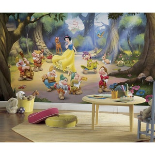 Snow White and the Seven Dwarfs Mural (6'x10.5')