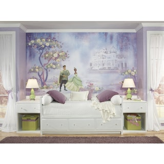 Princess and The Frog Chair Rail Pre-pasted Mural (6'x10.5')