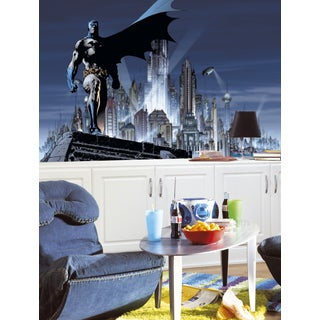 Batman Chair Rail Pre-pasted Mural (6'x10.5')