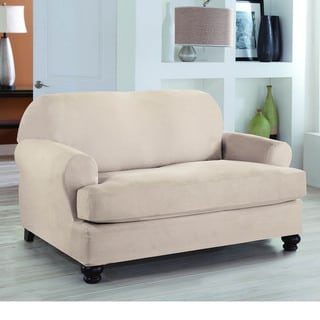 Restonic Stretch Fit 2 Piece T Loveseat Slipcover
