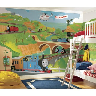 Thomas the Tank Engine Full Size Pre-pasted Mural (9'x15')