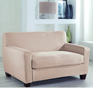 Restonic Stretch Fit 2 Piece Loveseat Slipcover