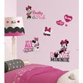 Minnie Loves Pink Peel and Stick Wall Decals