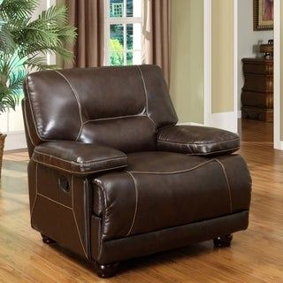 Abbyson Living Brownstone Hand Rubbed Leather Recliner