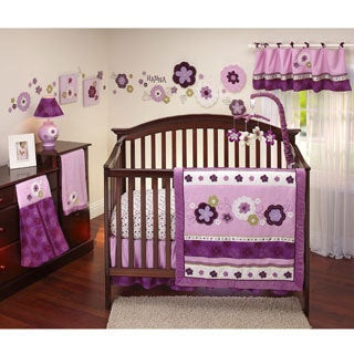 NoJo Pretty in Purple 13-piece Crib Bedding Set
