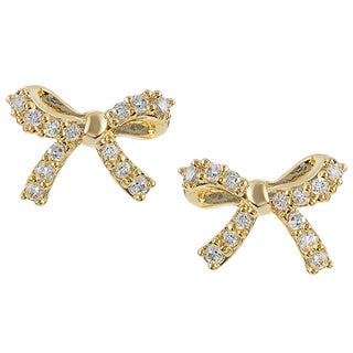 Journee Collection Cubic Zirconia Bow Stud Earrings