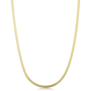 Fremada 10 Karat Yellow Gold 2.15-mm Herringbone Necklace (18-20 inch)