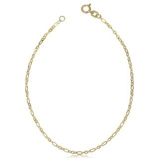 Fremada 10k Yellow Gold 1.7-mm Flat Figaro Bracelet (7.5-inch)