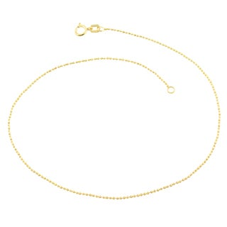 Fremada 10k Yellow Gold 0.95-mm Bone Link Anklet (10-inch)