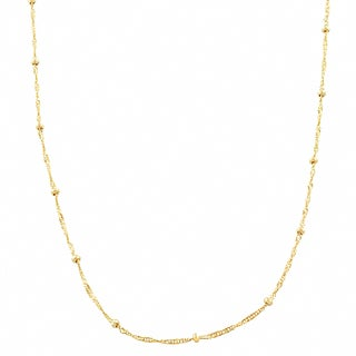 Fremada 10 Karat Yellow Gold 1.9-mm Singapore Saturn Necklace (16 - 20 inch)