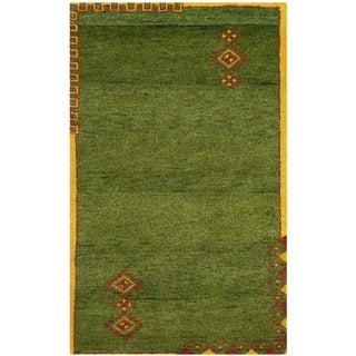 Safavieh Hand-knotted Gabbeh Multicolored Wool Rug (3' x 5')