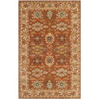 Safavieh Handmade Heritage Rust/ Beige Wool Rug (4' x 6')