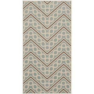 Safavieh Indoor/ Outdoor Hampton Light Blue/ Ivory Area Rug (2'7 x 5')
