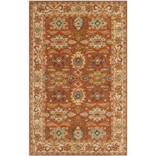 Safavieh Handmade Heritage Rust/ Beige Wool Rug (5' x 8')