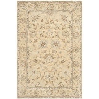 Safavieh Handmade Wyndham Light Gold/ Light Gold Wool Rug (5' x 8')