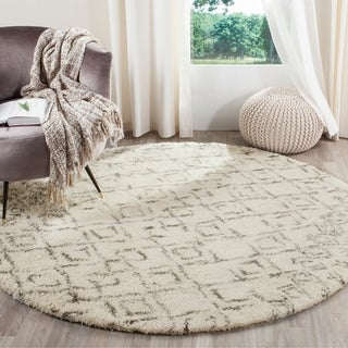 Safavieh Handmade Casablanca White/ Grey New Zealand Wool Rug (6' x 9')