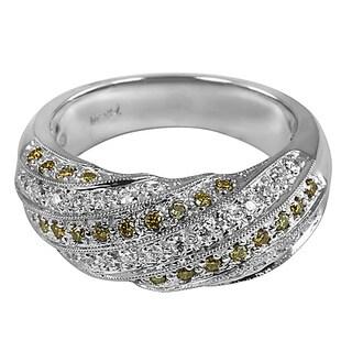 14k White Gold 1/2ct TDW Yellow and White Diamond Ring (H-I, I1-I2)