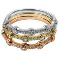 14k Gold 1/2ct TDW Stackable Fashion Diamond Ring Set (H-I, I1-I2)