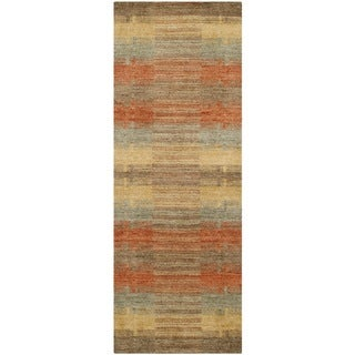 Safavieh Hand-loomed Himalaya Multicolored Wool Rug (2'3 x 12')