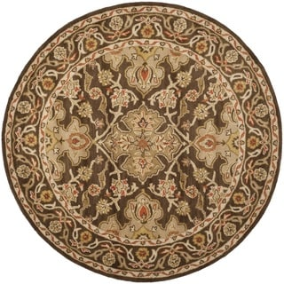 Safavieh Handmade Classic Brown/ Brown Wool Rug (6' Round)