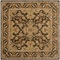 Safavieh Handmade Classic Brown/ Brown Wool Rug (6' Square)