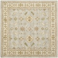 Safavieh Handmade Classic Light Blue/ Ivory Wool Rug (6' Square)