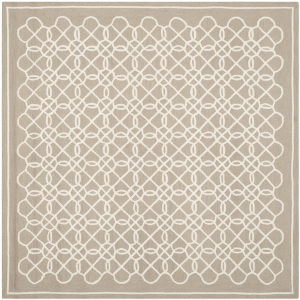 Safavieh Hand-hooked Chelsea Tan/ Ivory Wool Rug (8' Square)