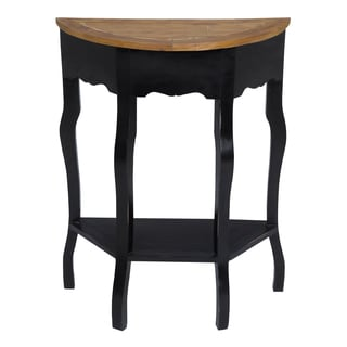 Distressed Vintage Black Finish Accent Table
