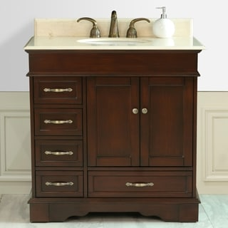 Virtu 'Oxford' 36-inch Single Sink Bathroom Left Side Vanity