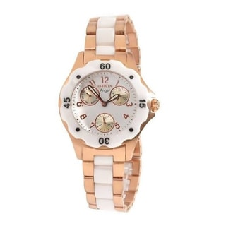 Invicta Women's Slightly Blemished 'Angel' Ceramic Rosetone Watch