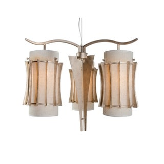 Varaluz Occasion 3-light Zen Gold Chandelier