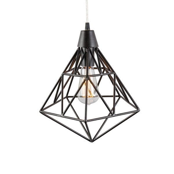 Varaluz Facet 1-light Forged Iron Pendant