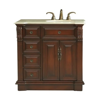 Virtu 'Benson' 36-inch Single Sink Left Side Bathroom Vanity