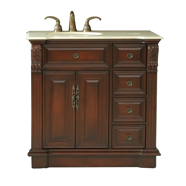 Virtu Usa Benson 36 Inch Single Sink Bathroom Right Side