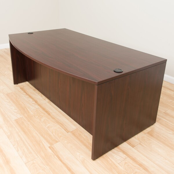 Boss Bow Front Desk Shell