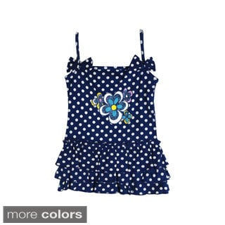 Girls Toddler Polka Dot Flower Dress